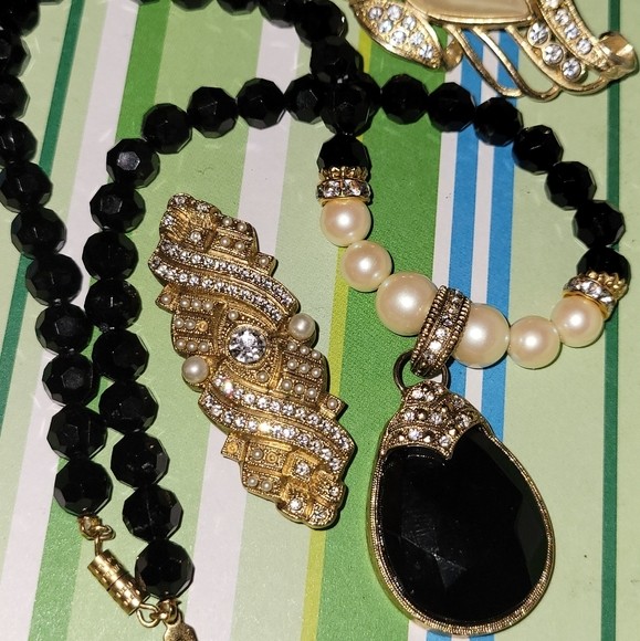 1928 Necklace and Brooches